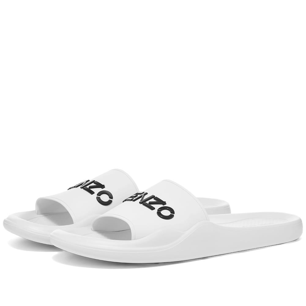 Kenzo Logo Pool Slide - White