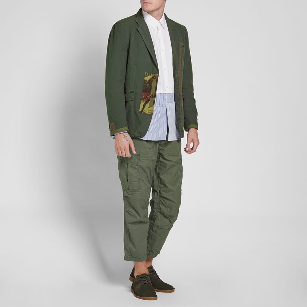 Comme des Garcons Homme Garment Dyed Camo Trim Blazer - Khaki