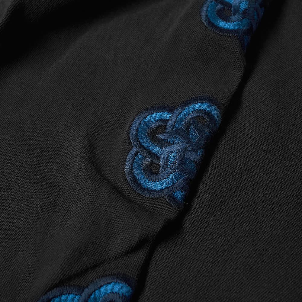 FDMTL Long Sleeve Flower Tee - Black