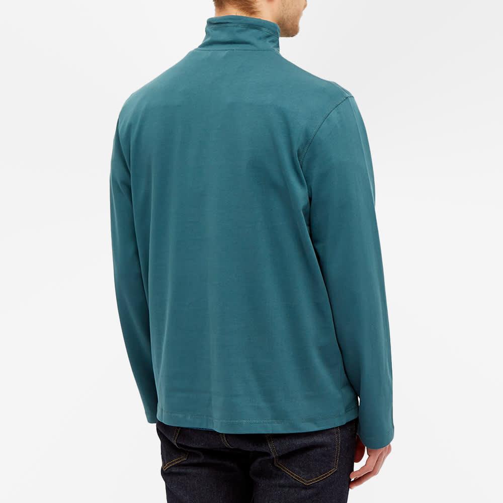 Très Bien Layer Half Zip Sweat - Blue Fog