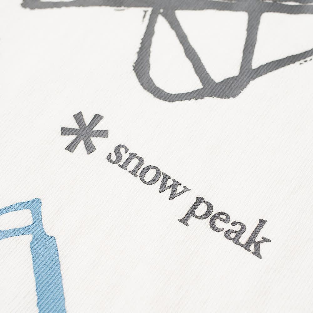 Snow Peak Long Sleeve Light Your Fire Tee - White