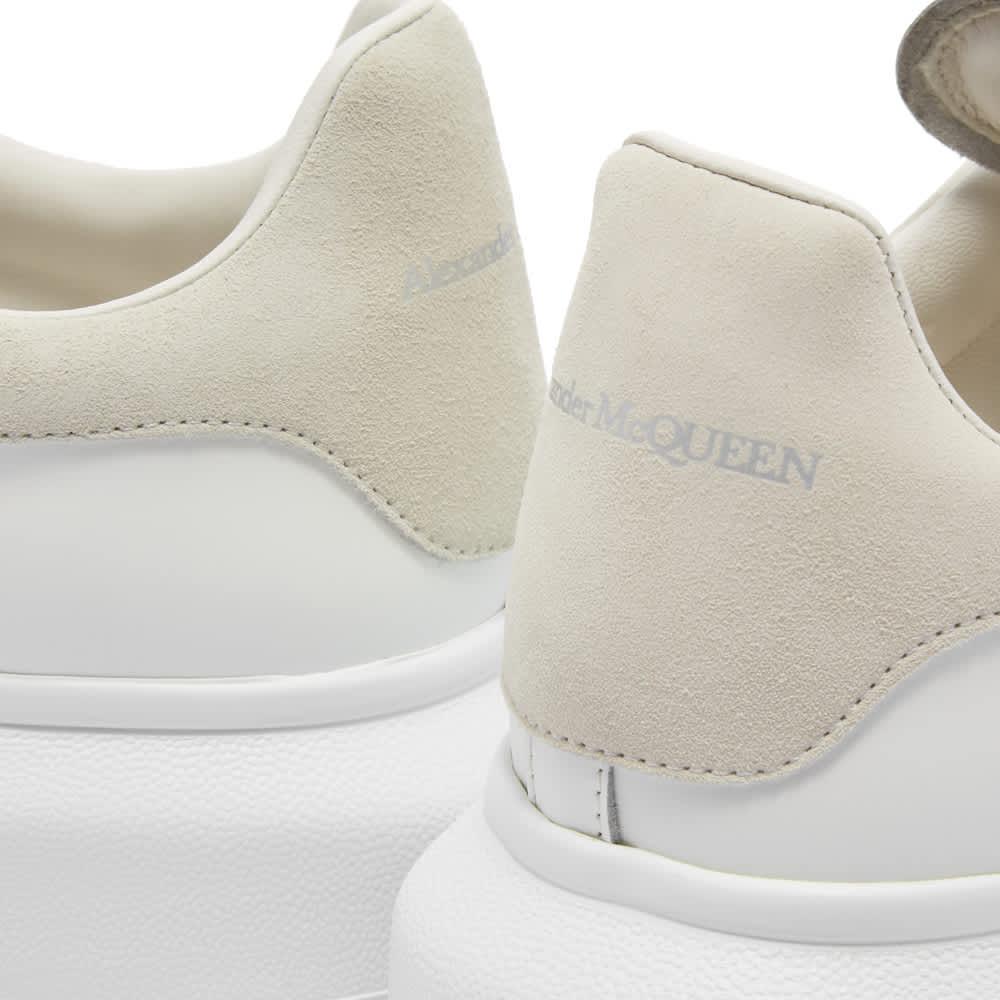 Alexander McQueen Heel Tab Wedge Sole Sneaker - White & Grey