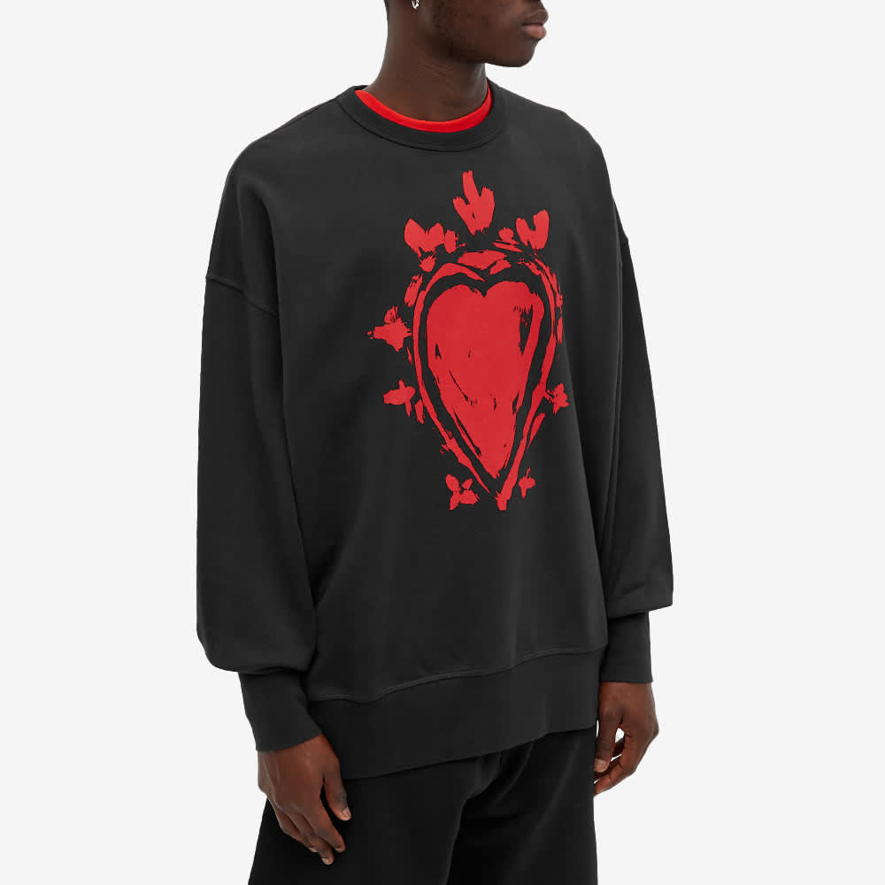Alexander McQueen Heart Crew Sweat - Black & Red