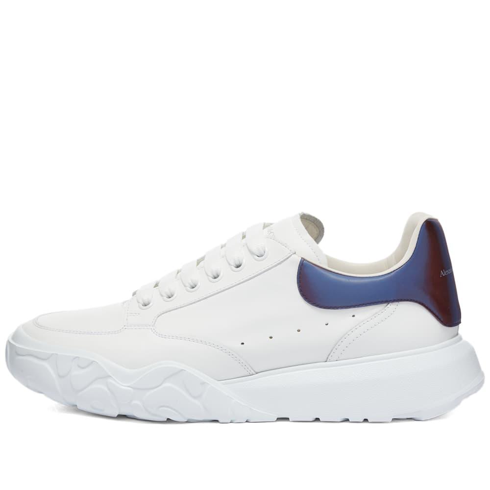 Alexander McQueen New Court Sneaker - White & Chrome Green