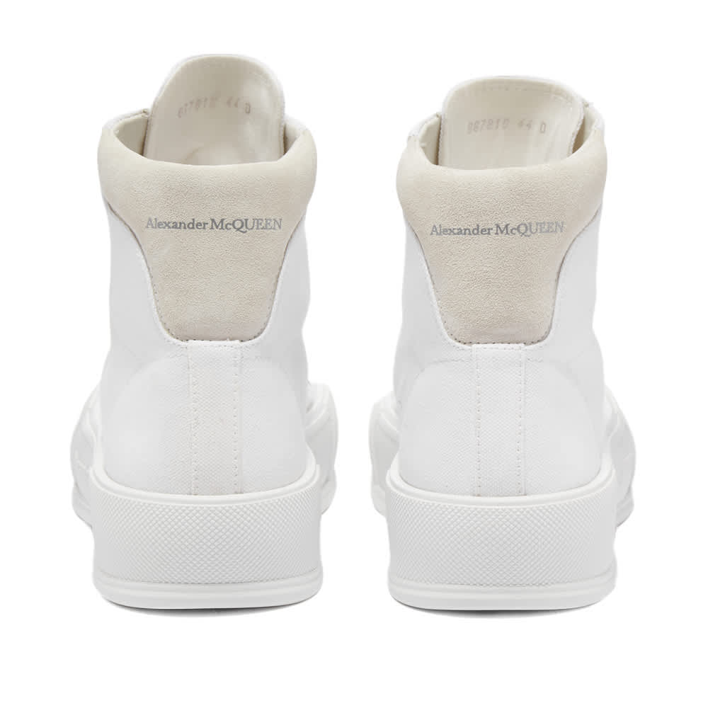 Alexander McQueen Canvas High Top Sneaker - White