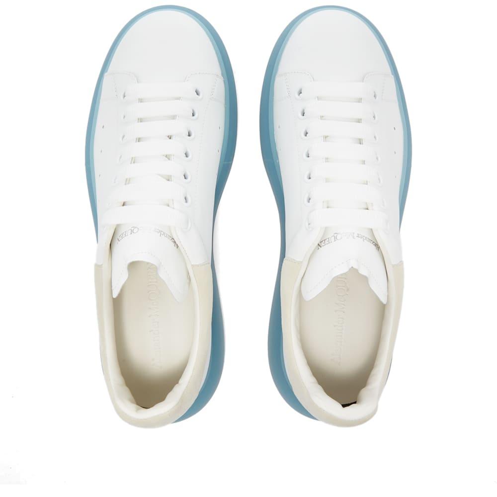 Alexander McQueen Crystal Wedge Sole Sneaker - White, Blue & Grey
