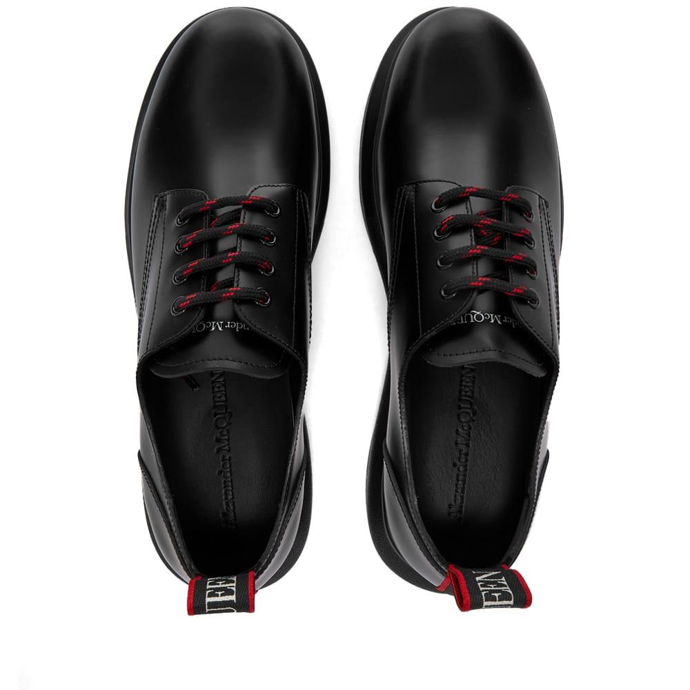 Alexander McQueen Webbing Logo Derby - Black, Red & White
