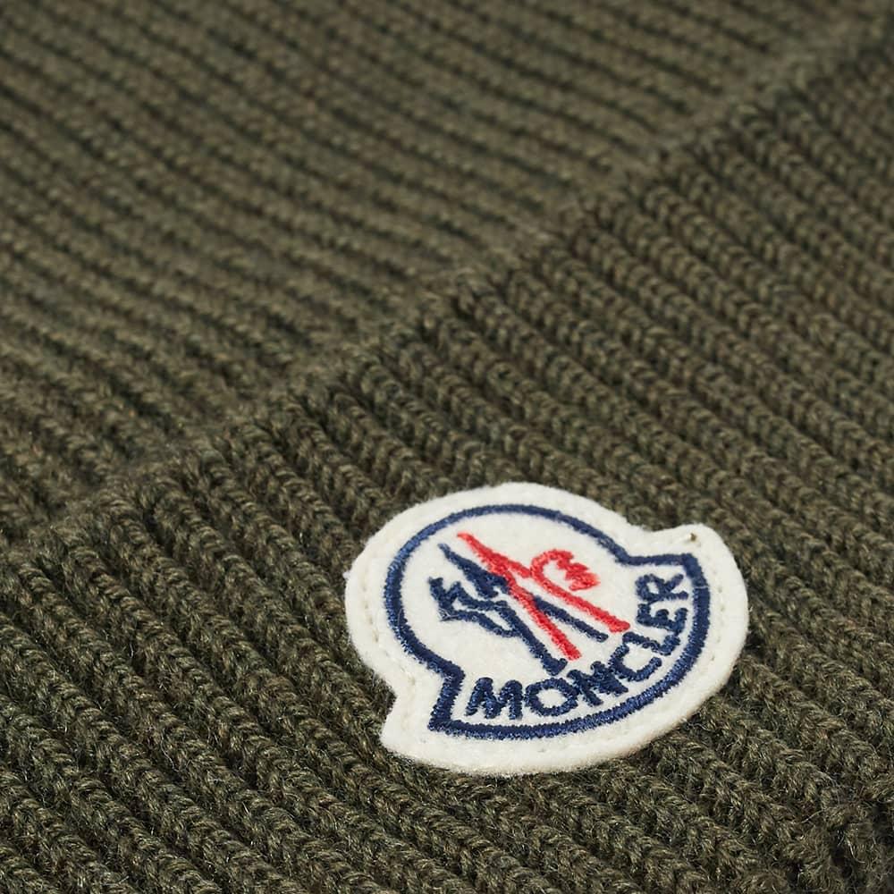 Moncler Logo Beanie - Green