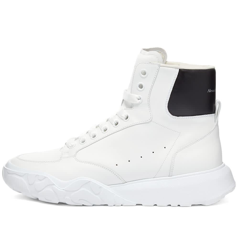 Alexander McQueen Court Mid Nappa Leather - White & Black