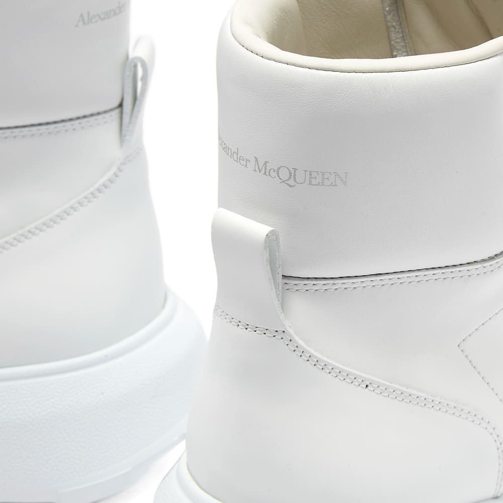 Alexander McQueen Court Mid Nappa Leather - White & Optical White