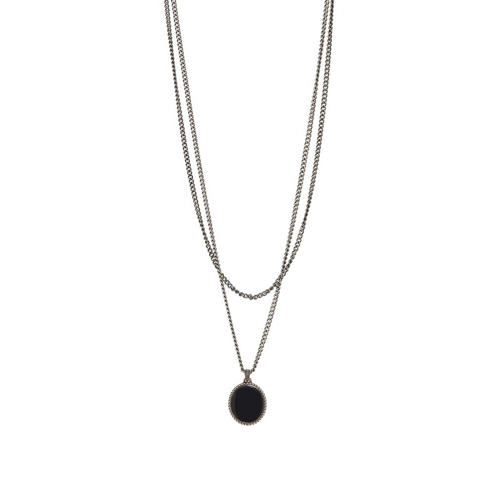 Alexander McQueen Double Layer Chain - Silver & Black