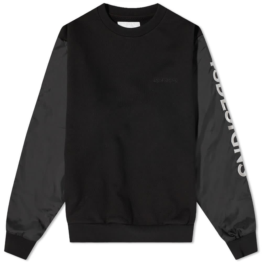 4SDesigns Sleeve Logo Crew Sweat - Black