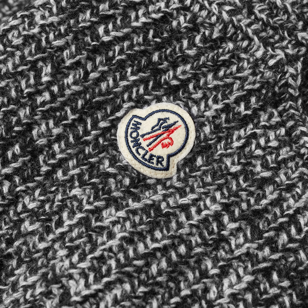 Moncler Hooded Knitted Marl Knit - Grey