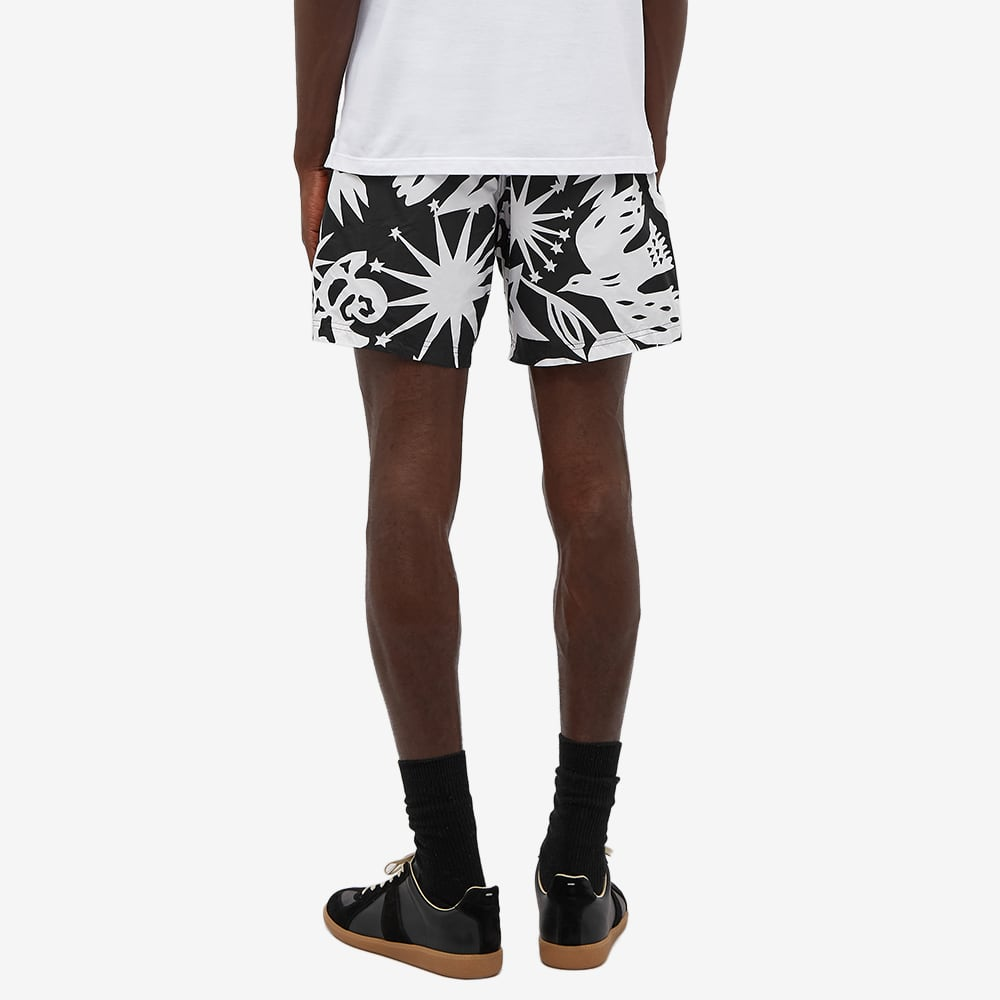 Alexander McQueen Graffiti Print Swim Short - Black & Ivory