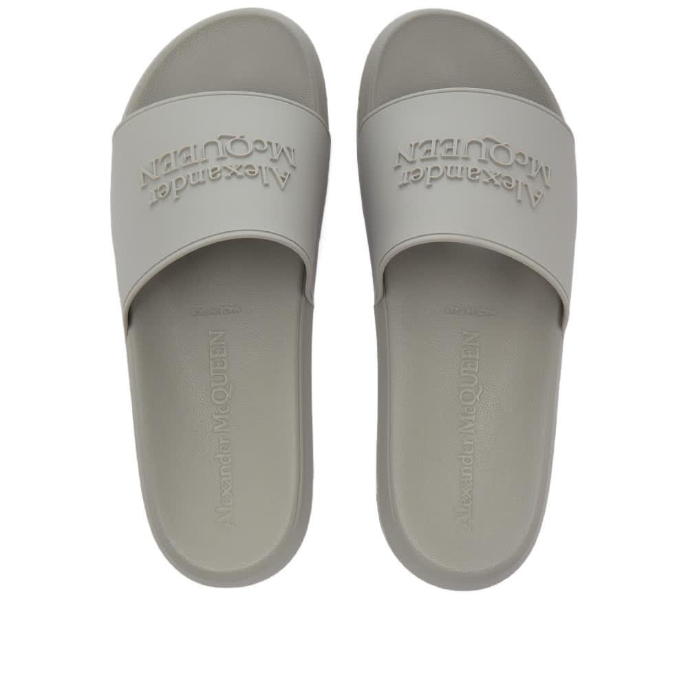 Alexander McQueen Pool Slides - Grey Stone