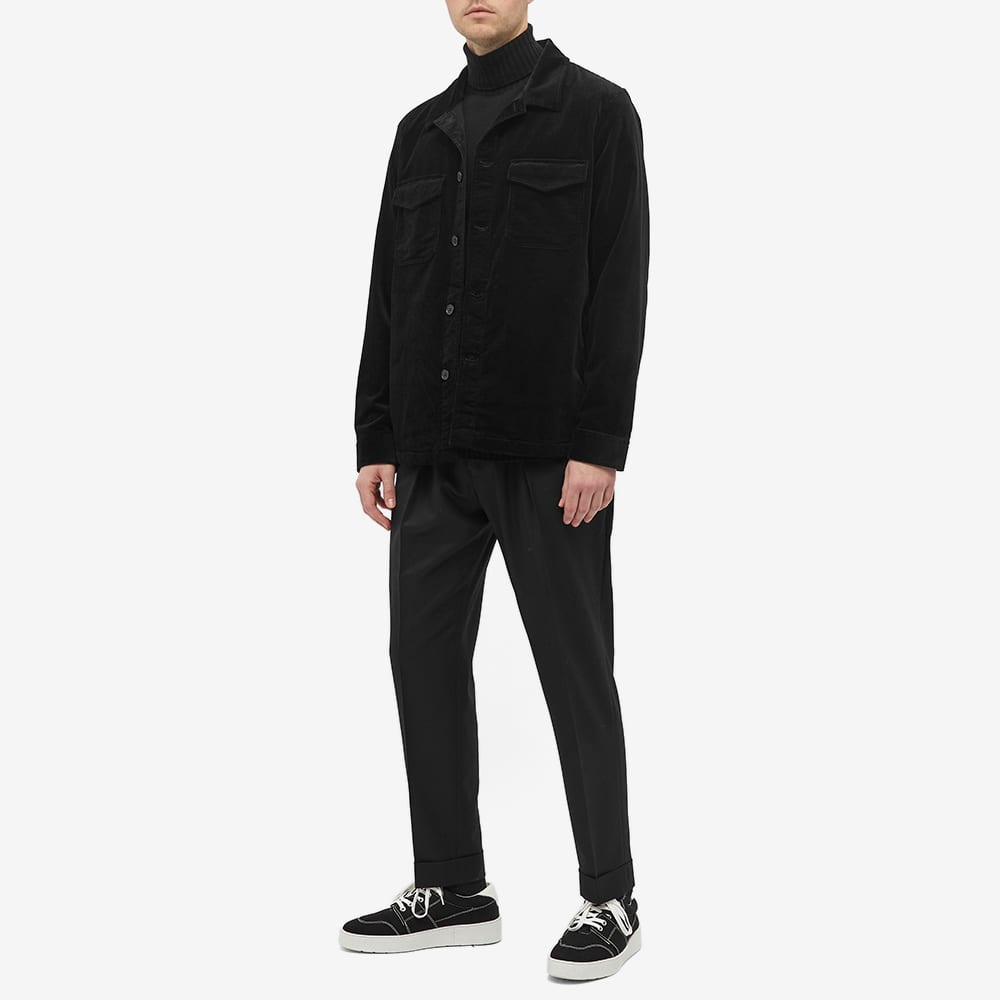 NN07 Bernard Corduroy Shirt Jacket - Black