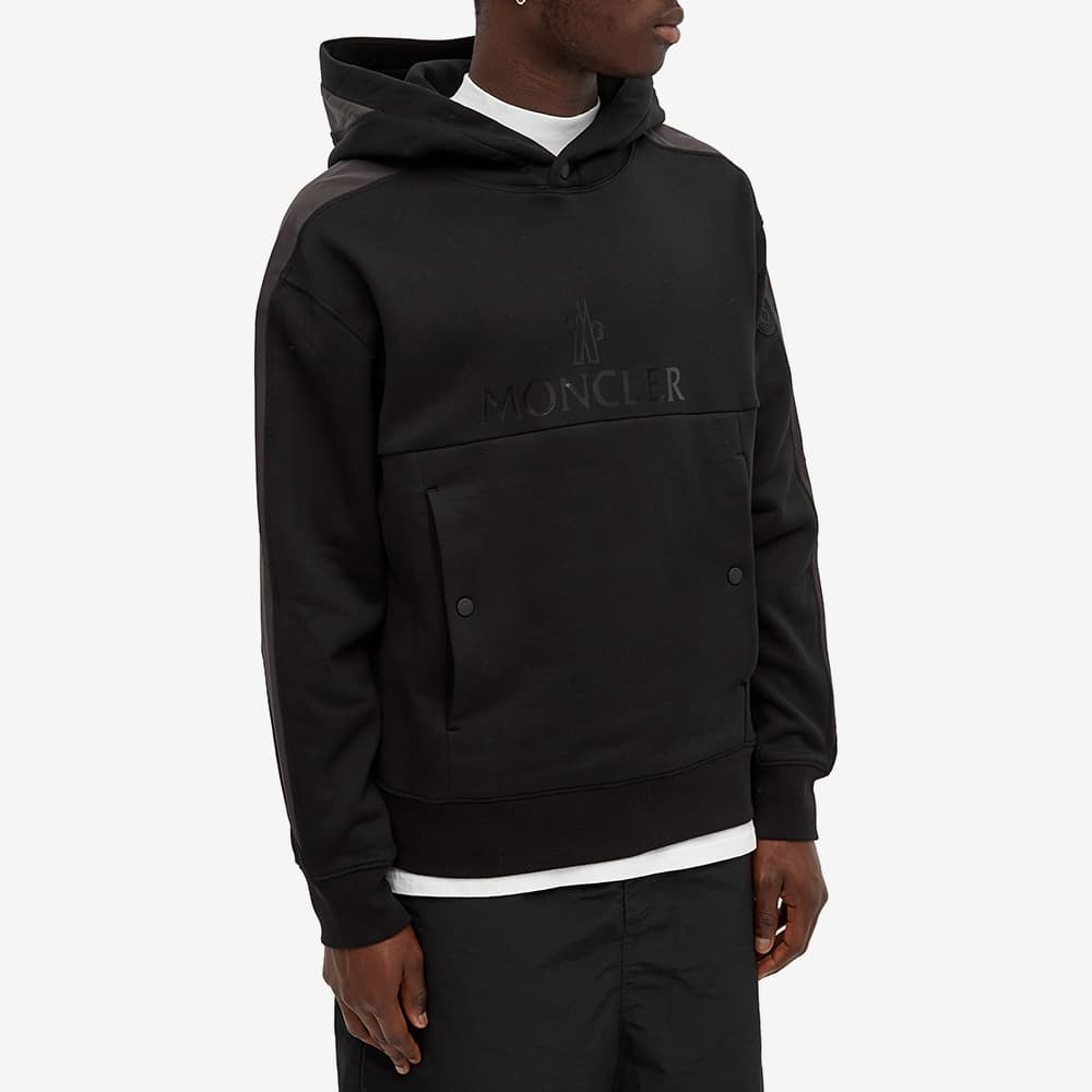 Moncler Logo Popover Hoody - Black
