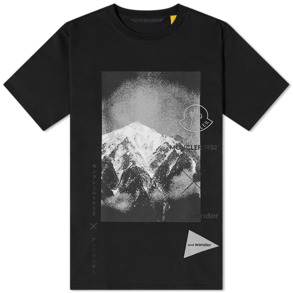 Moncler Genius x and wander Mountain Tee - Black