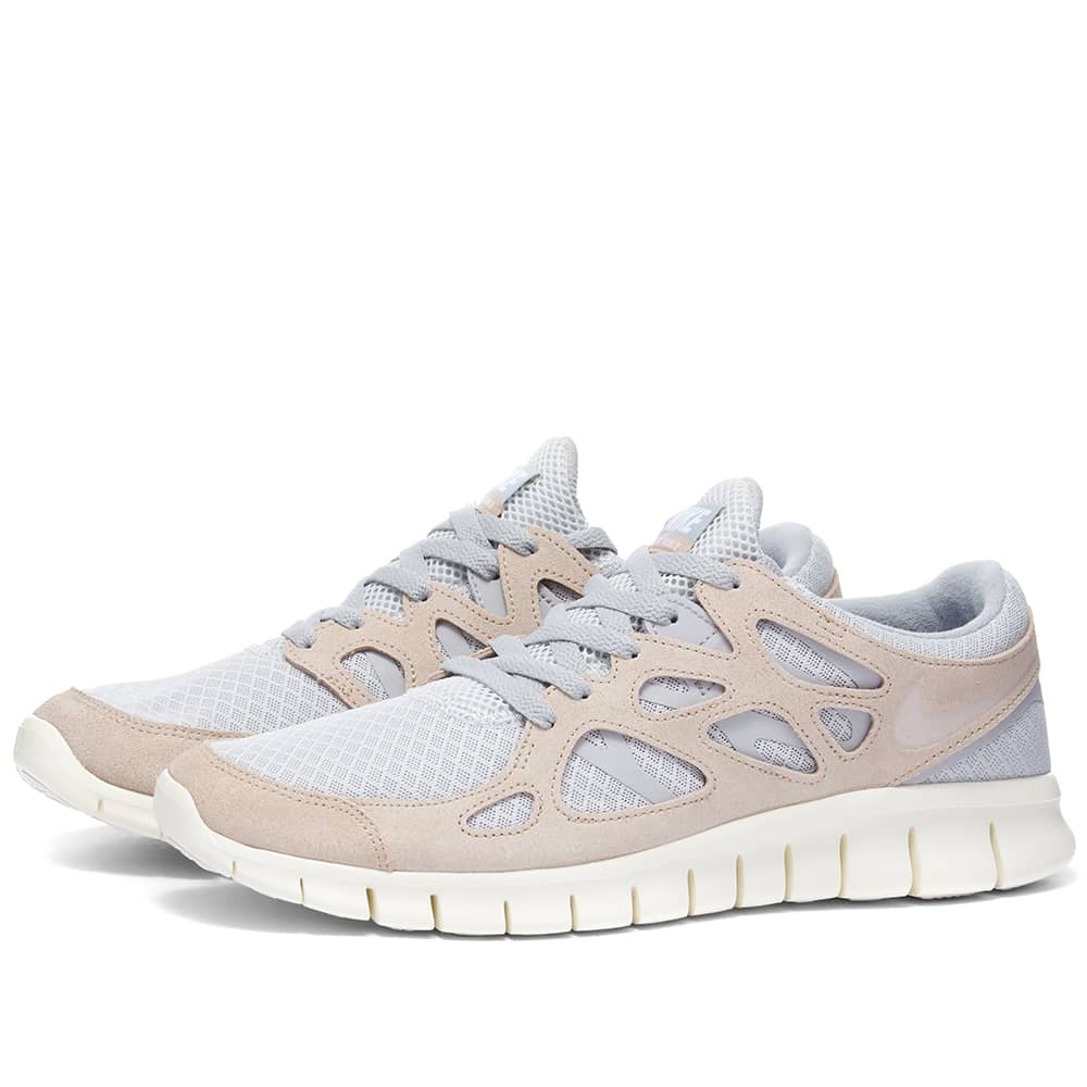Nike Free Run 2 - Platinum, Fossil & Grey