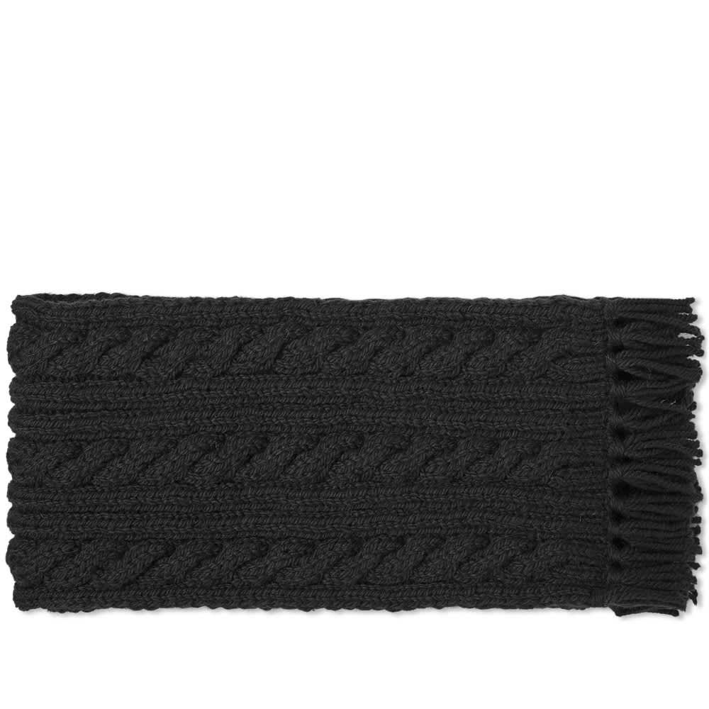 Inverallan Aran Scarf - Black