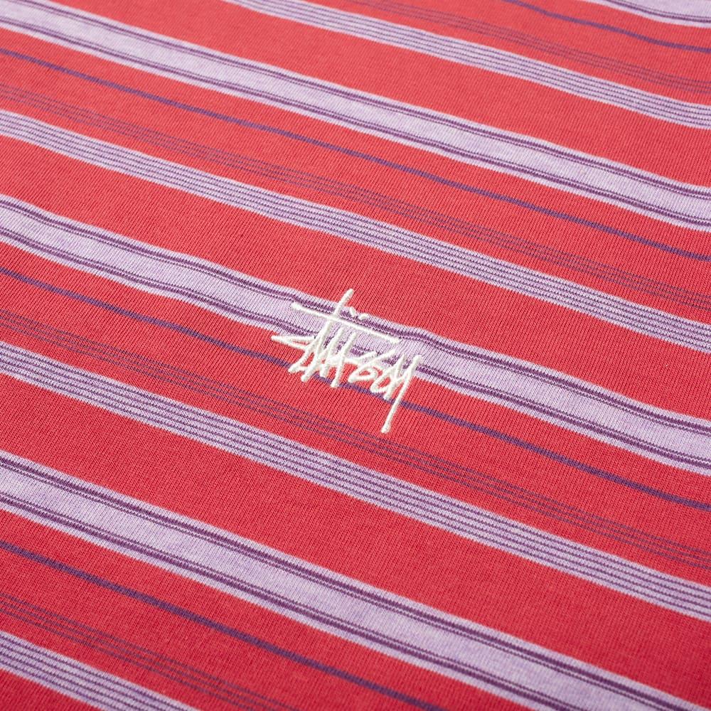 Stussy Heather Stripe Tee - Red