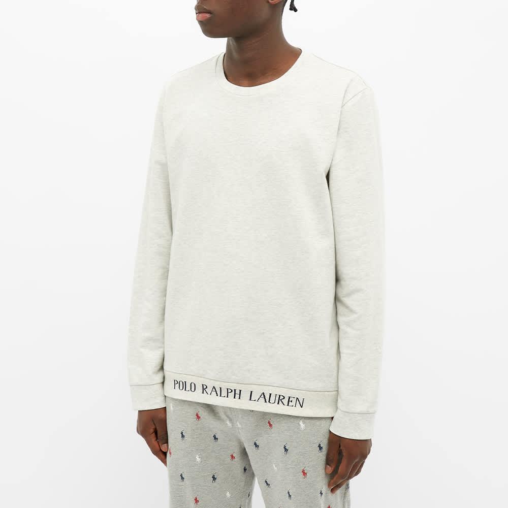 Polo Ralph Lauren Logo Rib Sleepwear Crew Sweat - Grey Heather
