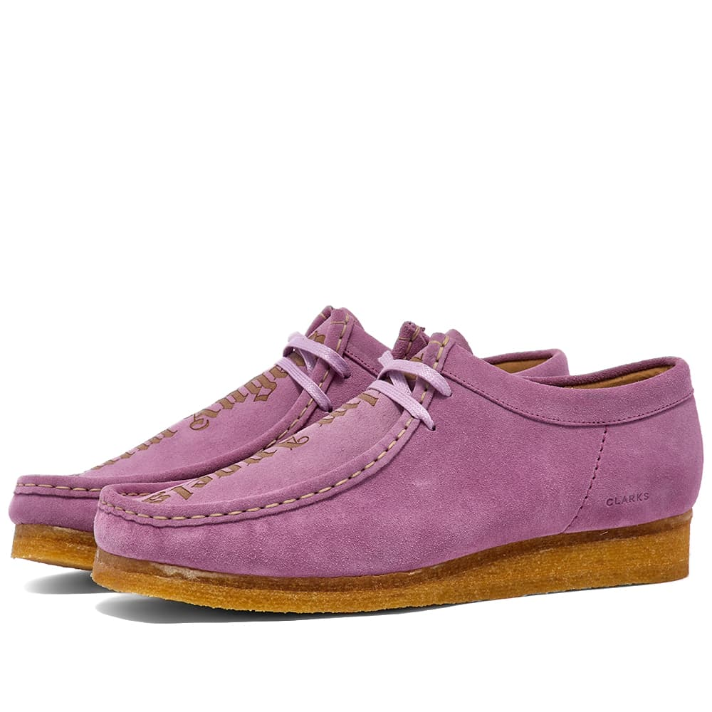 Palm Angels x Clarks Logo Etched Wallabee - Lilac & Black