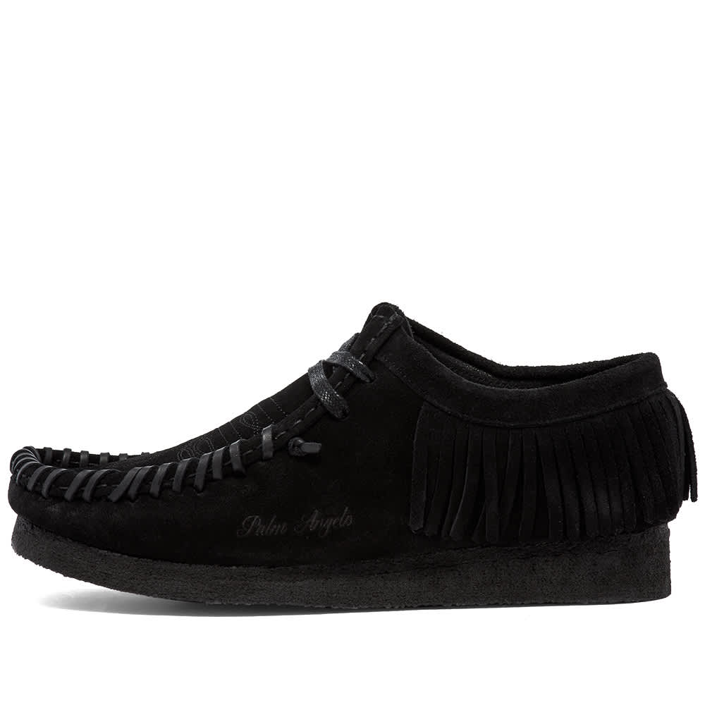 Palm Angels x Clarks Fringed Wallabee - Black Suede
