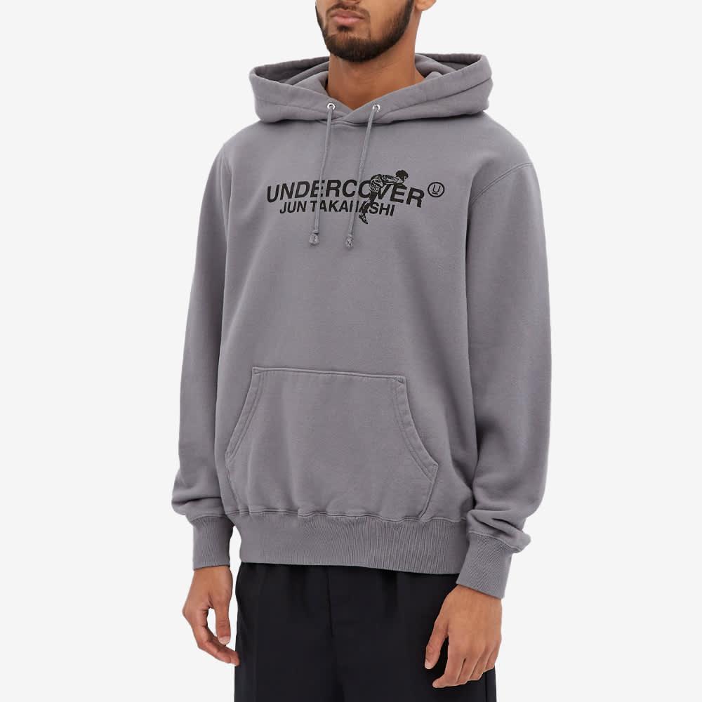 Undercover Logo Popover Hoody - Blue Grey