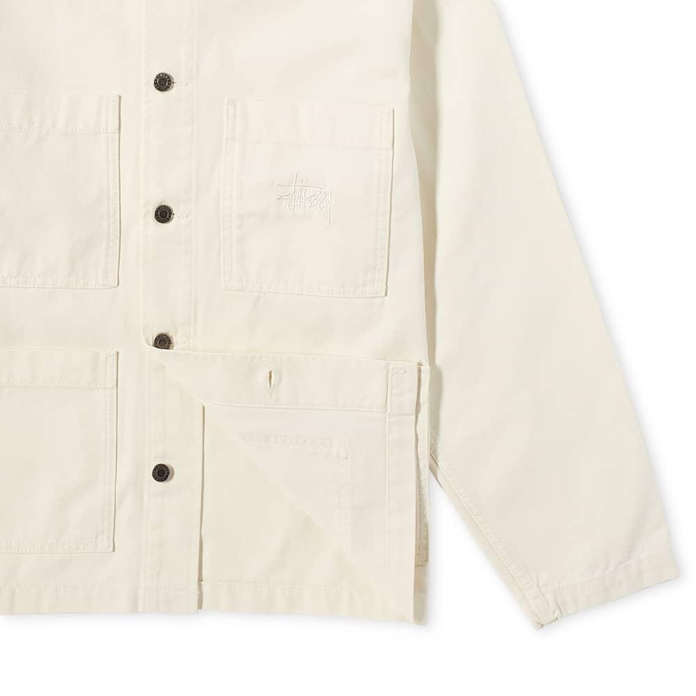 Stussy Cord Collar Canvas Chore Jacket - Bone