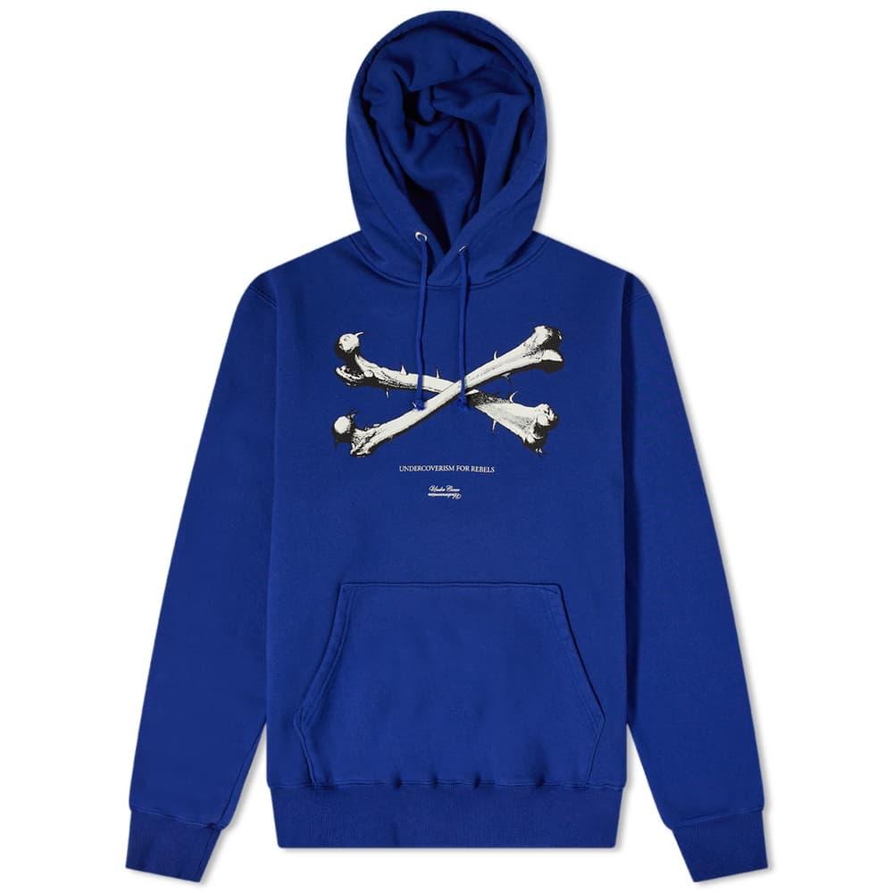 Undercover Thorn Crossbones Popover Hoody - Blue