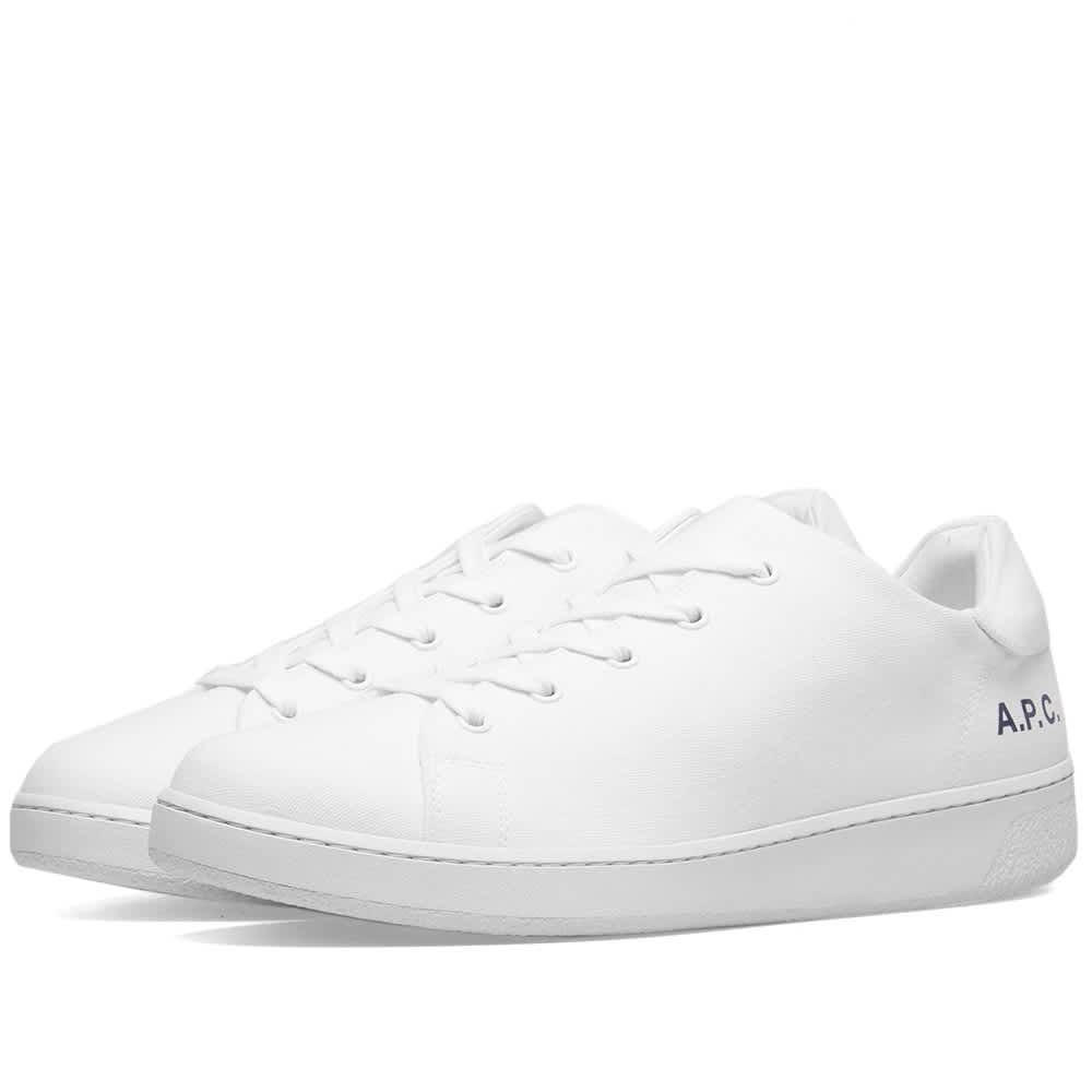 A.P.C. Minimal Canvas Sneaker - White