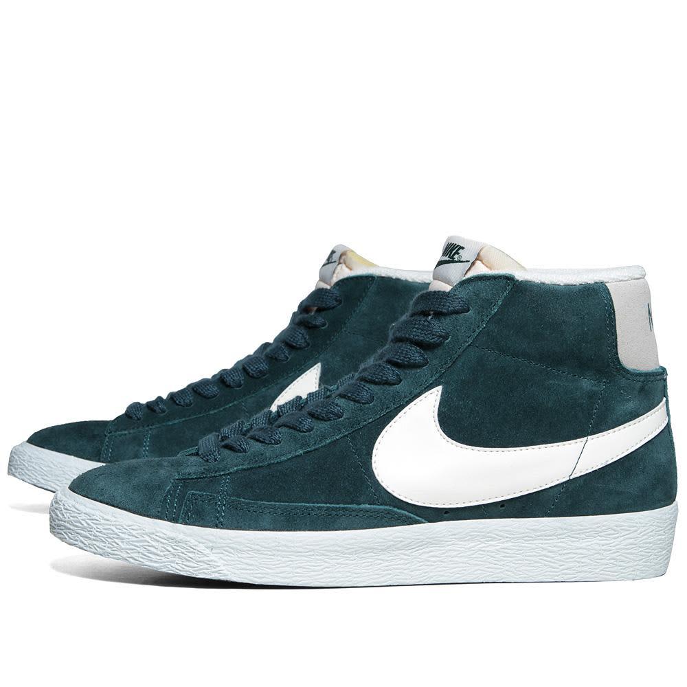 Nike Blazer Mid Suede VNTG - Dark Atomic Teal & Sail