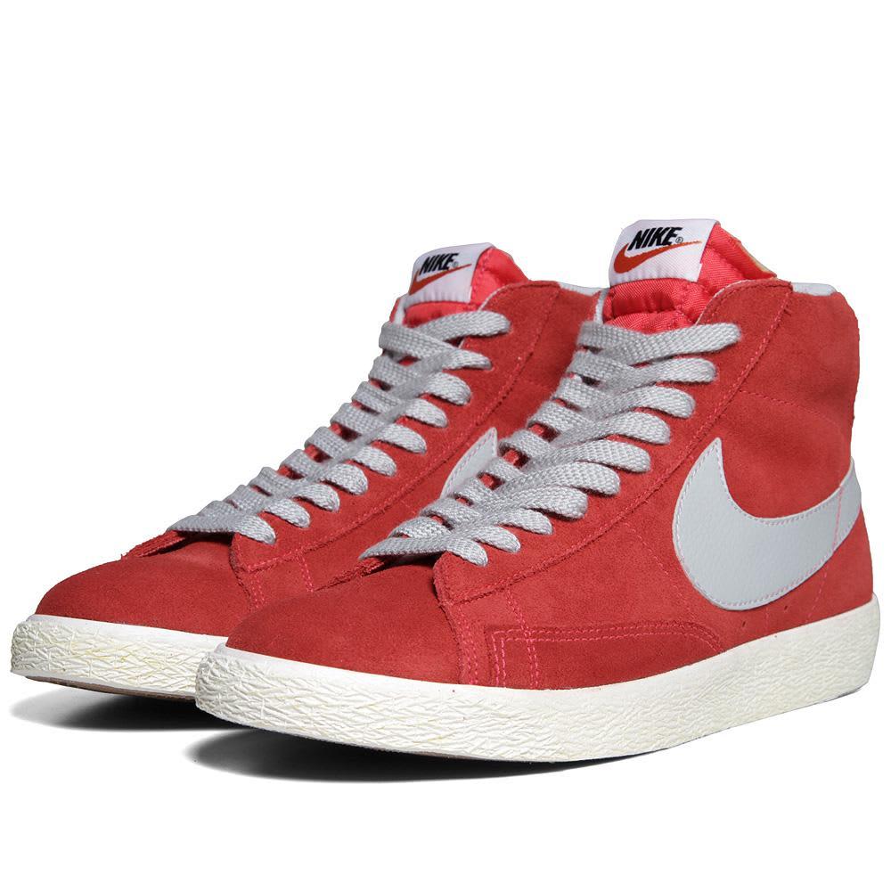 Nike Blazer Mid PRM VNTG - Hyper Red & Strata Grey