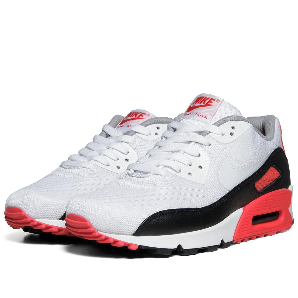 Nike Air Max 90 Premium EM - White, Black & Infrared