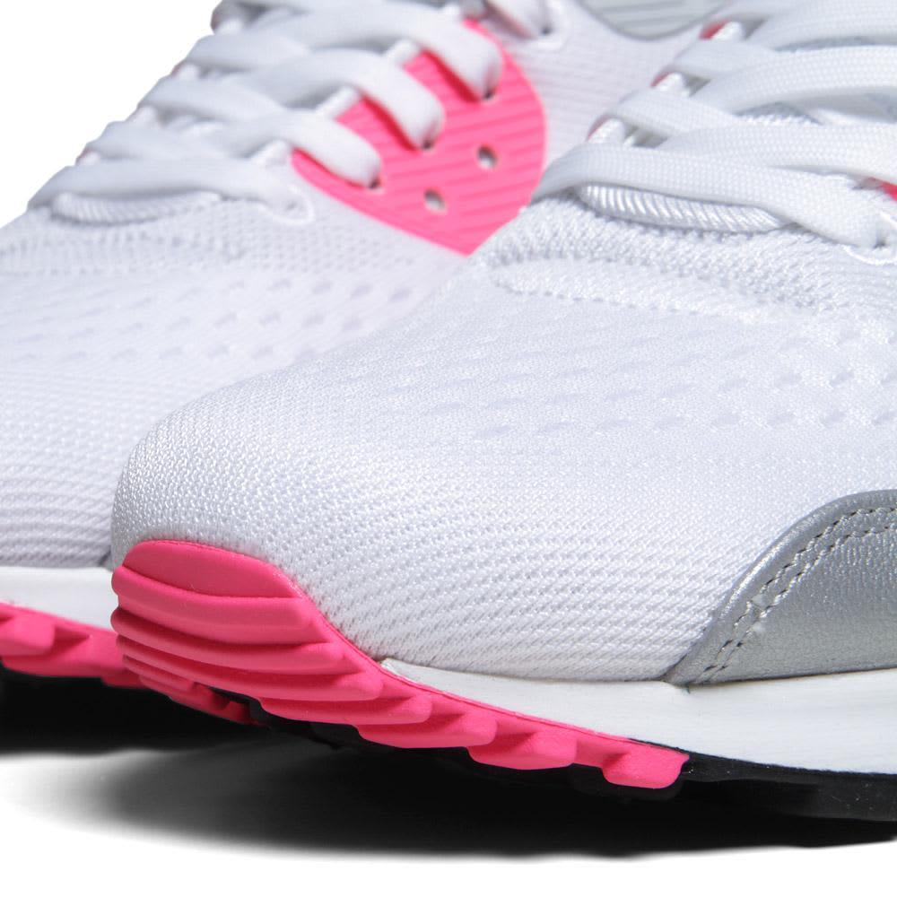 Nike Air Max 90 Premium EM - White, Black & Pink Flash