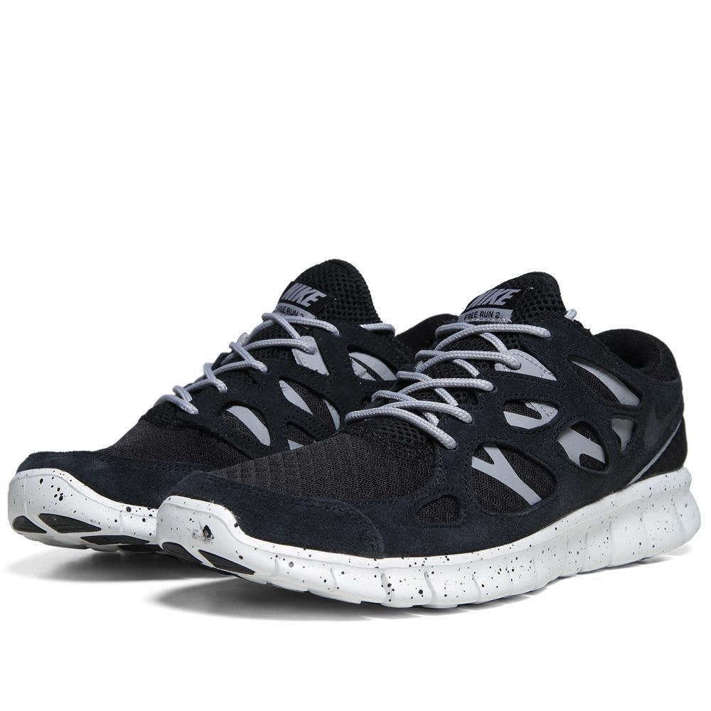 Nike Free Run + 2 EXT  - Black, Wolf Grey & Summit Whit