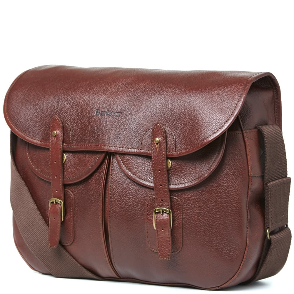 Barbour Leather Tarras Bag - Brown