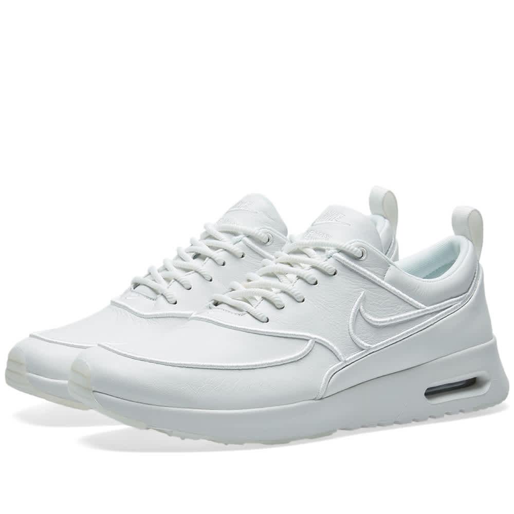 Womens Lifestyle | Nike Air Max Thea Premium Particle BeigeSummit WhiteCrimson TintParticle Beige