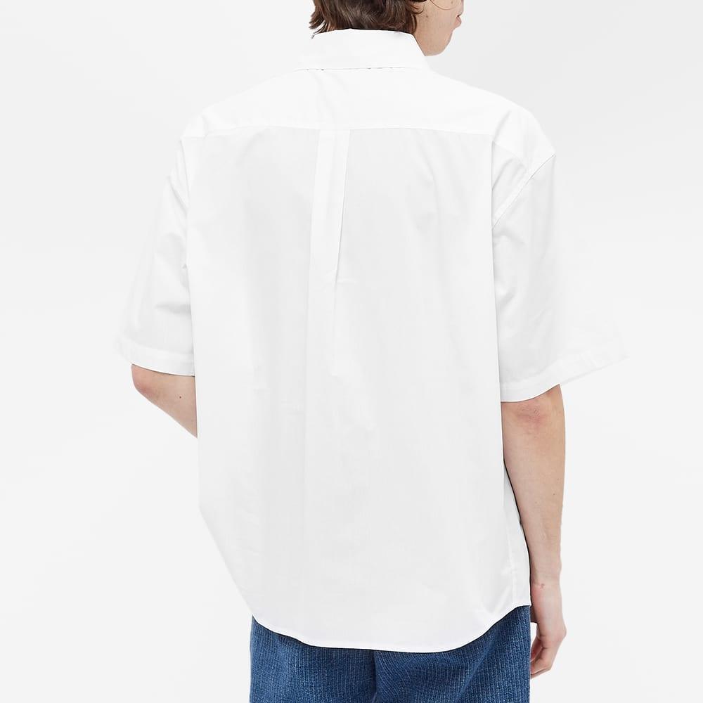 Martine Rose Short Sleeve Logo Tab Shirt - White