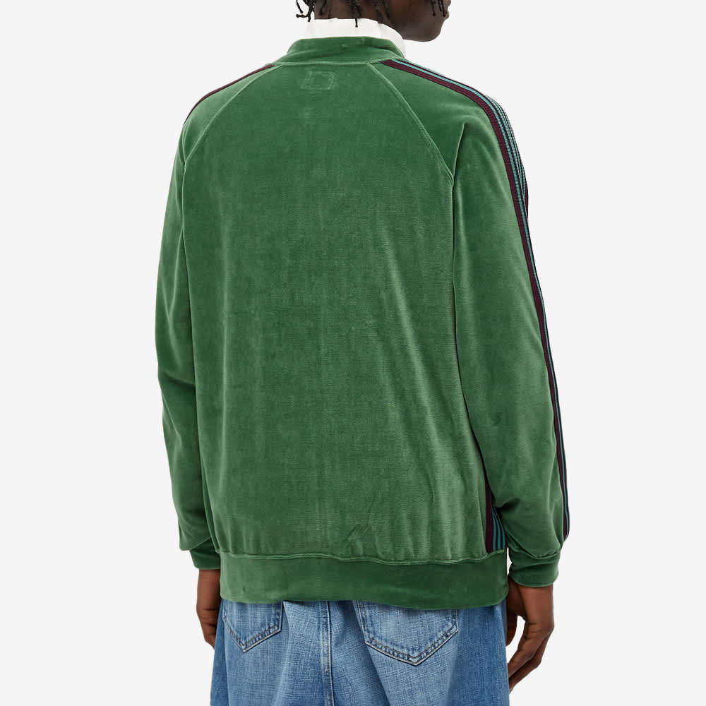 Needles Velour Bomber Track Jacket - Green