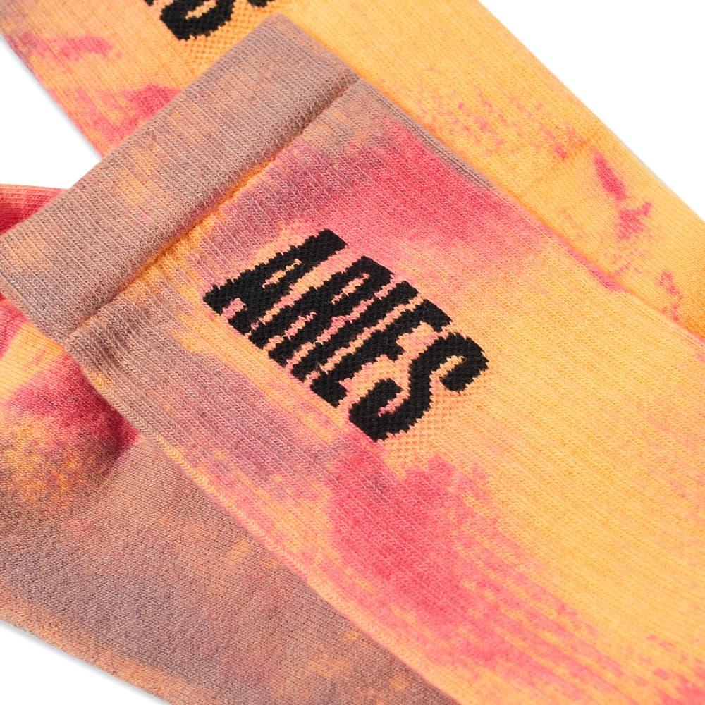 Aries Tie-Dye Sock - Yellow