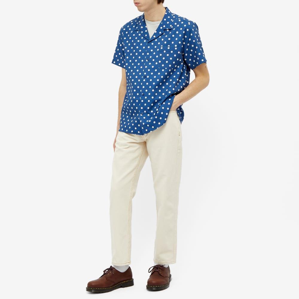 YMC Malick Vacation Shirt - Blue & Ecru