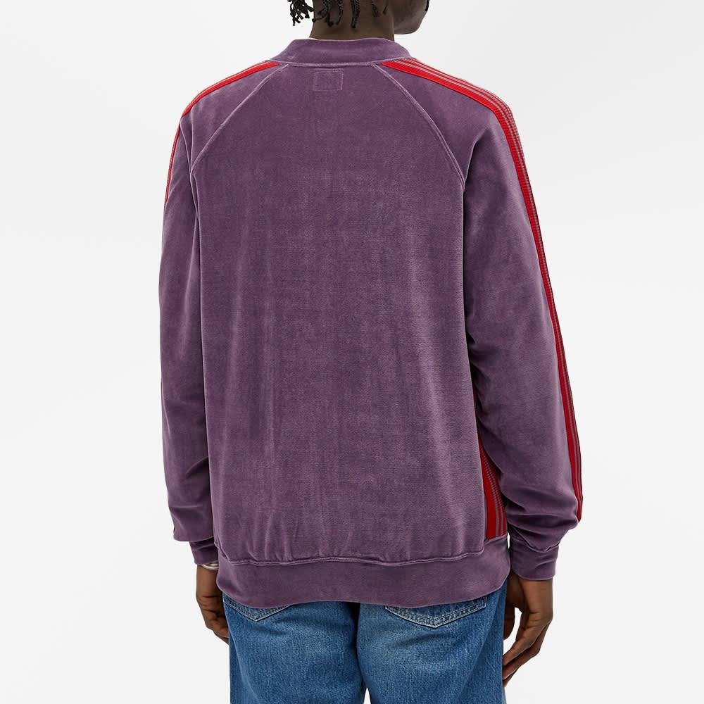 Needles Velour Bomber Track Jacket - Purple