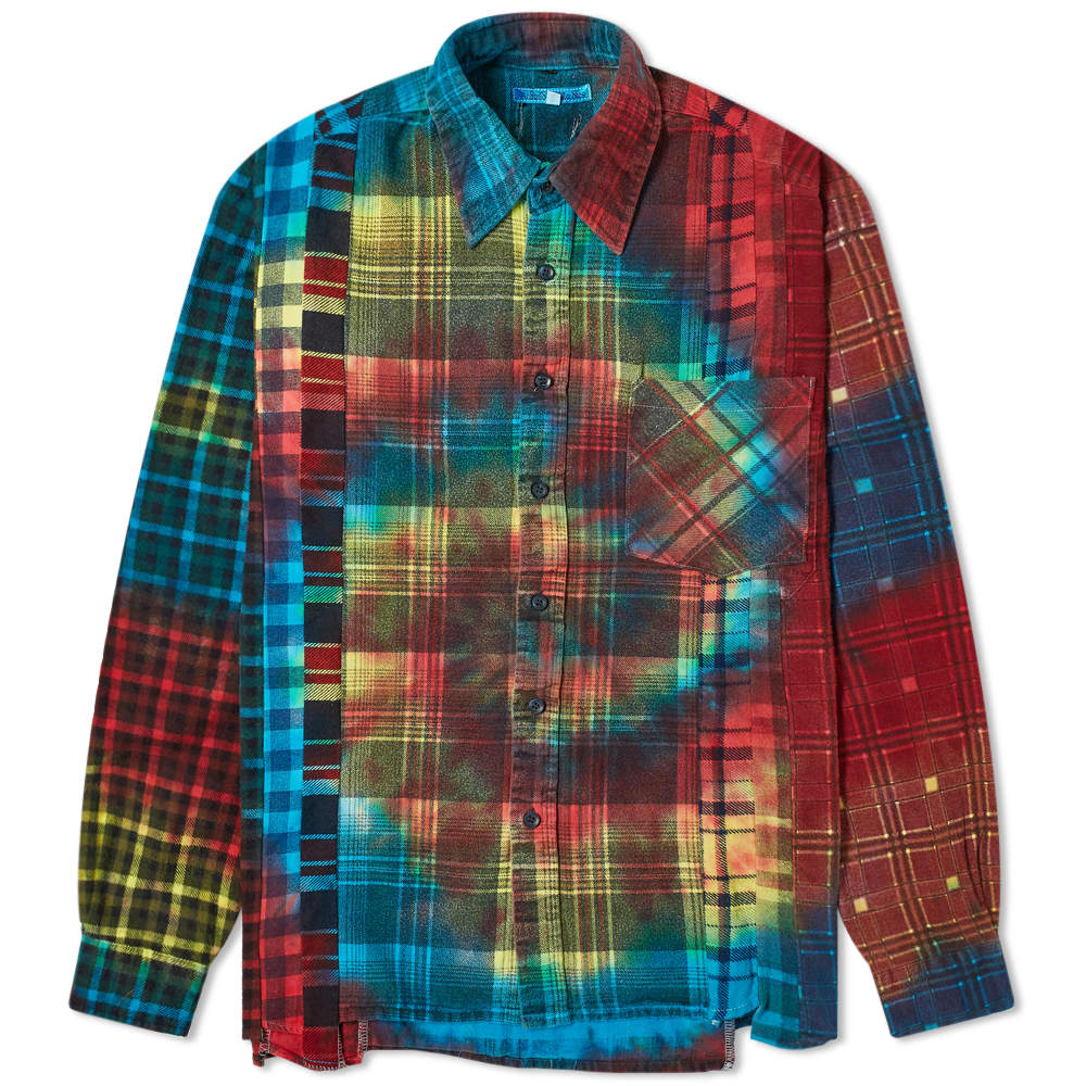 Needles Ribbon Flannel Tie Dye Shirt - Assorted