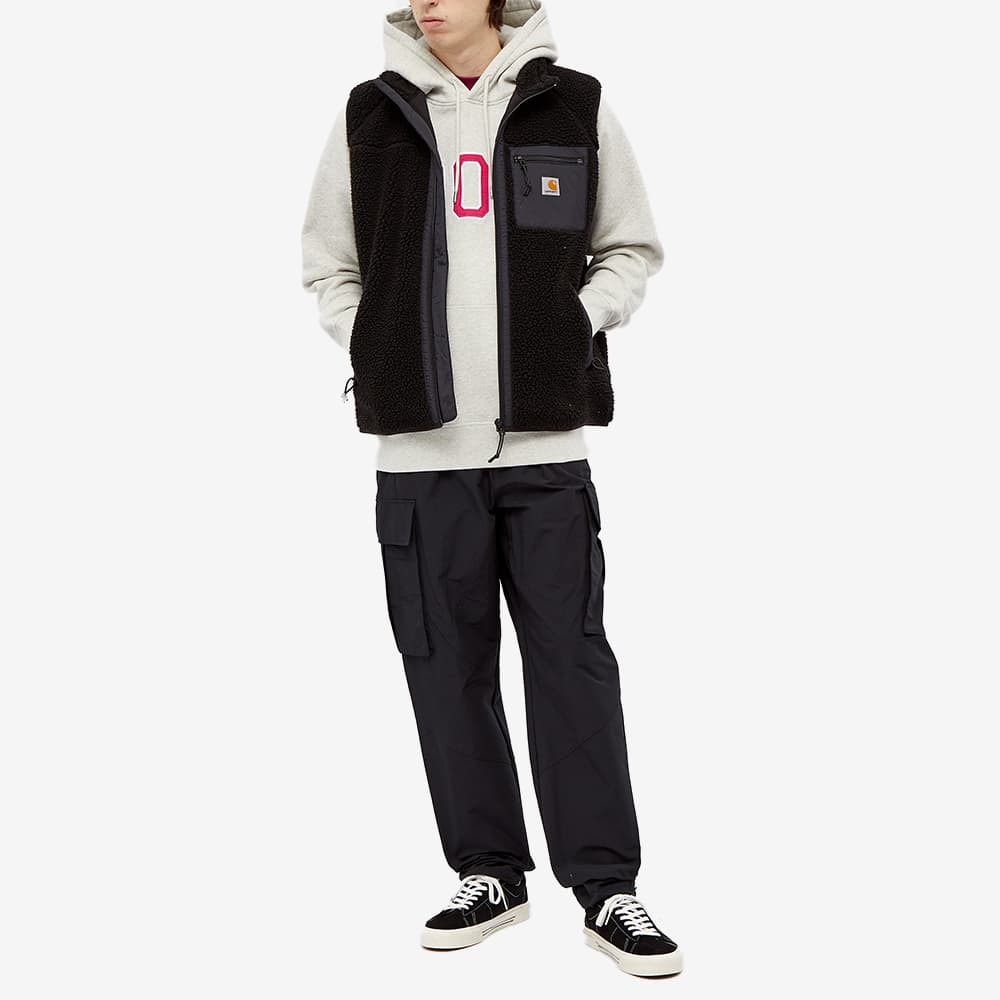 POP Trading Company Arch Logo Popover Hoody - Off White & Heather