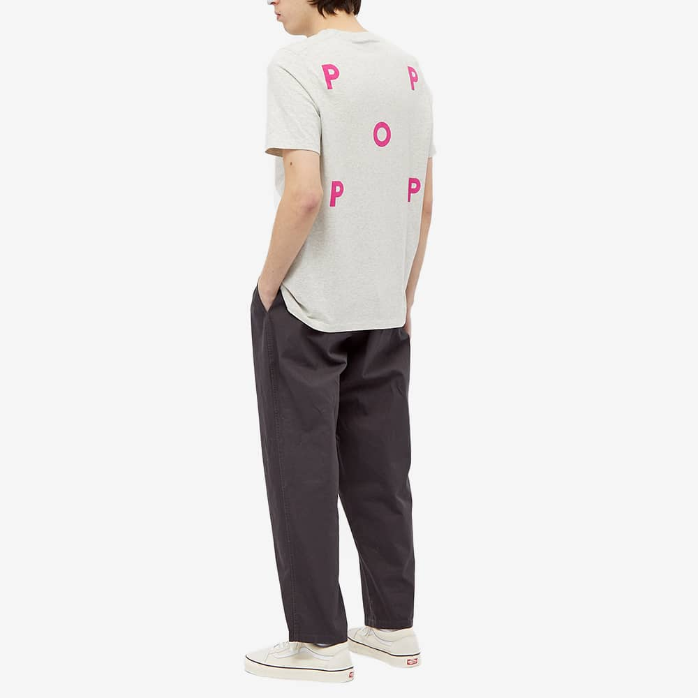 POP Trading Company Logo Tee - Off White, Heather & Pink