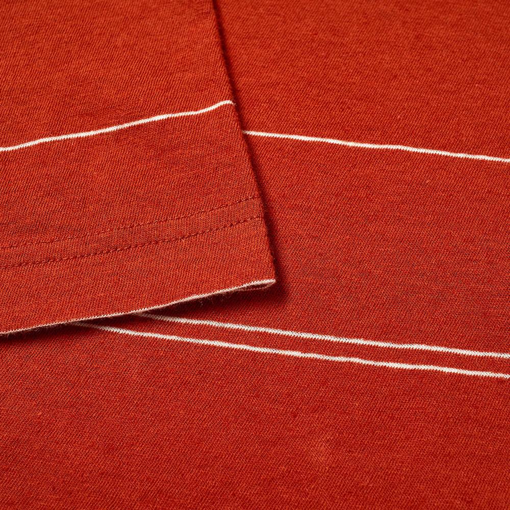 Norse Projects Joakim Fine Stripe Tee - Burnt Havtorn