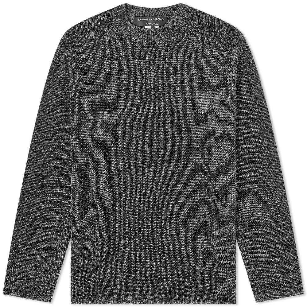 Comme des Garcons Homme Plus Silver Tint Knit - Black & Silver