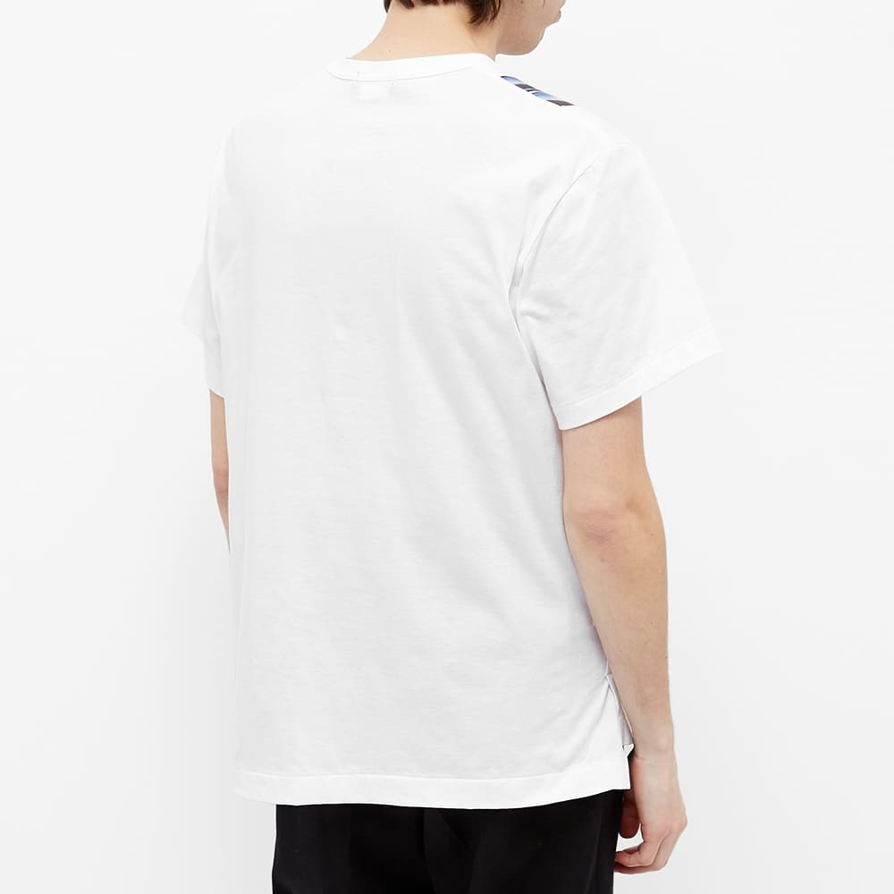 Comme des Garcons Homme Plus Cut And Sew Patchwork Tee - White & Multi